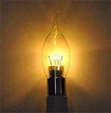 LED Flame Candle 4W (Epistar) WarmWhite 2300K E14 230V AC Clear_