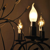 LED Flame Candle 3W (Epistar) WarmWhite 2300K E14 220V AC Frosted_