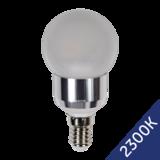 LED Bulb 4W (Epistar) WarmWhite 2300K E14 230V AC Frosted_
