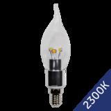 LED Flame Candle 3W (Epistar) WarmWhite 2300K E14 220V AC Clear_