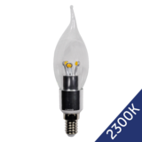 LED Flame Candle 4W (Epistar) WarmWhite 2300K E14 230V AC Clear_