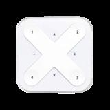 Draadloze schakelaar met vier knoppen (Wit & Zwart)_