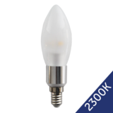 LED Candle 4W (Epistar) WarmWhite 2300K E14 230V AC frosted_