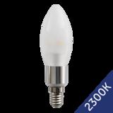 LED Candle 3W (Epistar) WarmWhite 2300K E14 230V AC frosted_