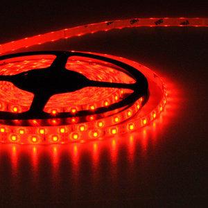 Flexibele LED Strip 3528 Rood 60LEDs/mtr IP64