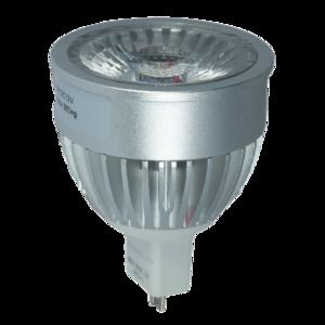 LED Spot 5W (Bridgelux) WarmWhite 3000K MR16 12V (Anti-Glare)