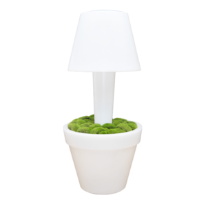 LED Vaas Rond met lamp