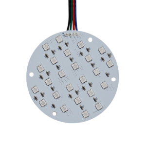 LED SMD Rond RGB plaat 9cm 24 Chips