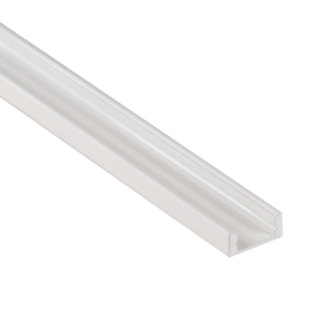 Aluminium Profiel wit (Powder coated) Opbouw 7mm 2M
