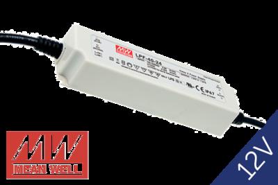 MeanWell LPF-40-12 IP67 PFC 12V 40W