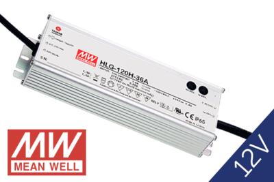 MeanWell HLG-120-12 IP65 PFC 12V 120W