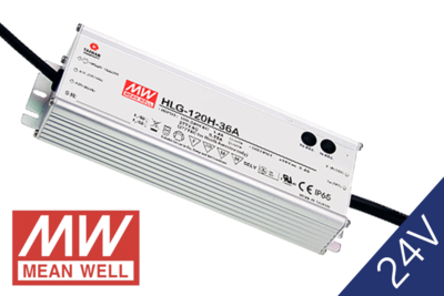 MeanWell HLG-120-24 IP65 PFC 24V 120W