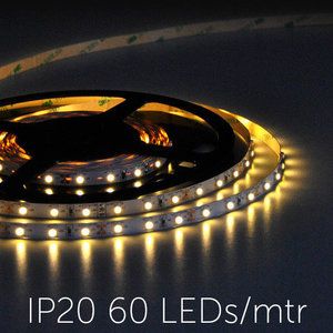 Flexibele LED Strip 3528 WarmWhite 2400K 60LEDs/mtr IP20