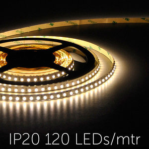 Flexibele LED Strip 3528 WarmWhite 3000K 120LEDs/mtr IP20