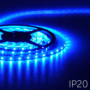 Flexibele LED Strip 3528 Blauw 60LEDs/mtr IP20