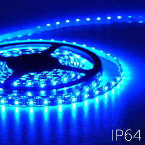 Flexibele LED Strip 3528 Blauw 60LEDs/mtr IP64