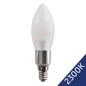 LED Candle 3W (Epistar) WarmWhite 2300K E14 230V AC frosted
